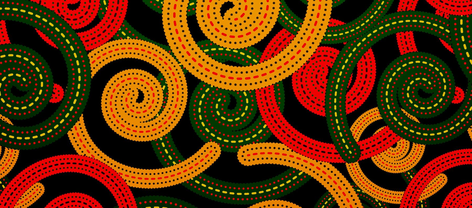 Abstract senegalese pattern