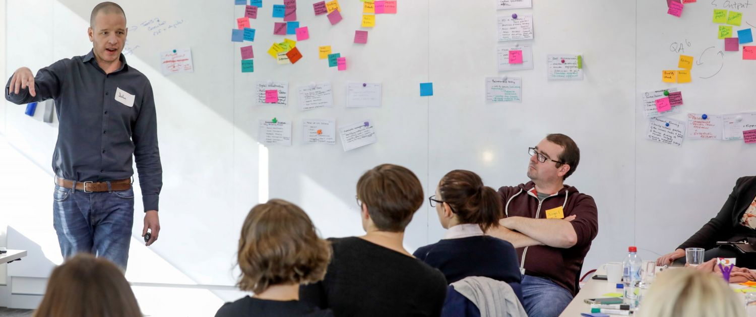 ThinkPlace designers use whiteboards to help drive collaboration