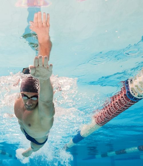 An olympic swimmer